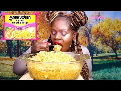 BIG BOWL NOODLES MUKBANG ASMR Eating Sounds | Soft Spoken