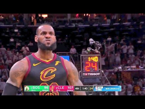 LeBron James'in masaya yumruğu vurduğu anlar   Cavs vs Celtics   [TÜRKÇE] 🔥