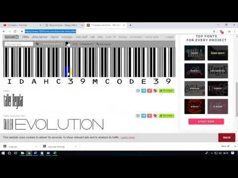 Tutorial membuat barcode bagi pemula dengan menggunakan ms.word dan ms.excel.