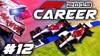 F1 2019 CAREER MODE Part 12: TEAM-MATE HIT ME OFF!!! FROSTY BATTLE!