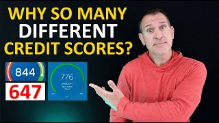 Why your credit scores are different from each other  How so many FICO, VantageScore scores happen