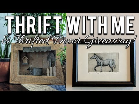 Thrift with Me at Goodwill & Thrifted Home Decor Giveaway!