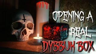 ( WARNING ) Opening A REAL Cursed Dybbuk Box Caught On Camera