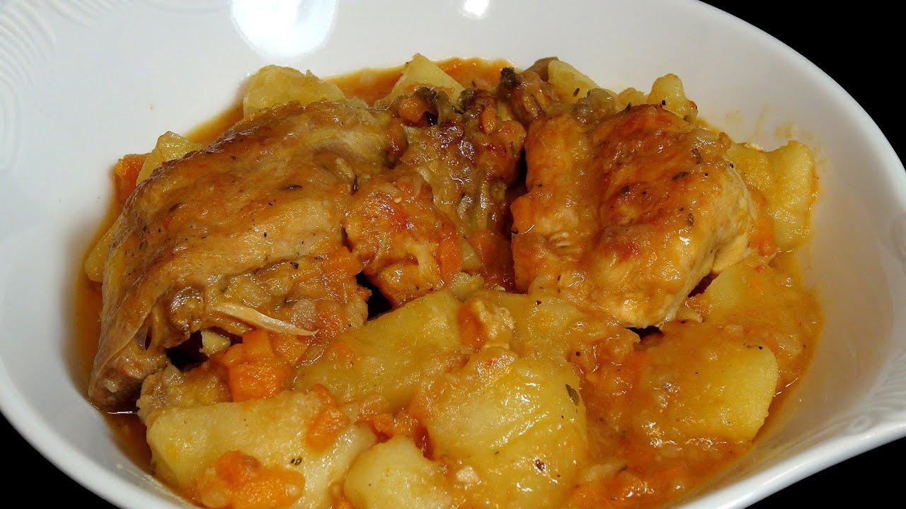 Pollo guisado con patatas youtube for Despresadora de pollo