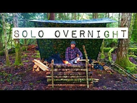 Solo Overnight Bushcraft Camp | Camp Build