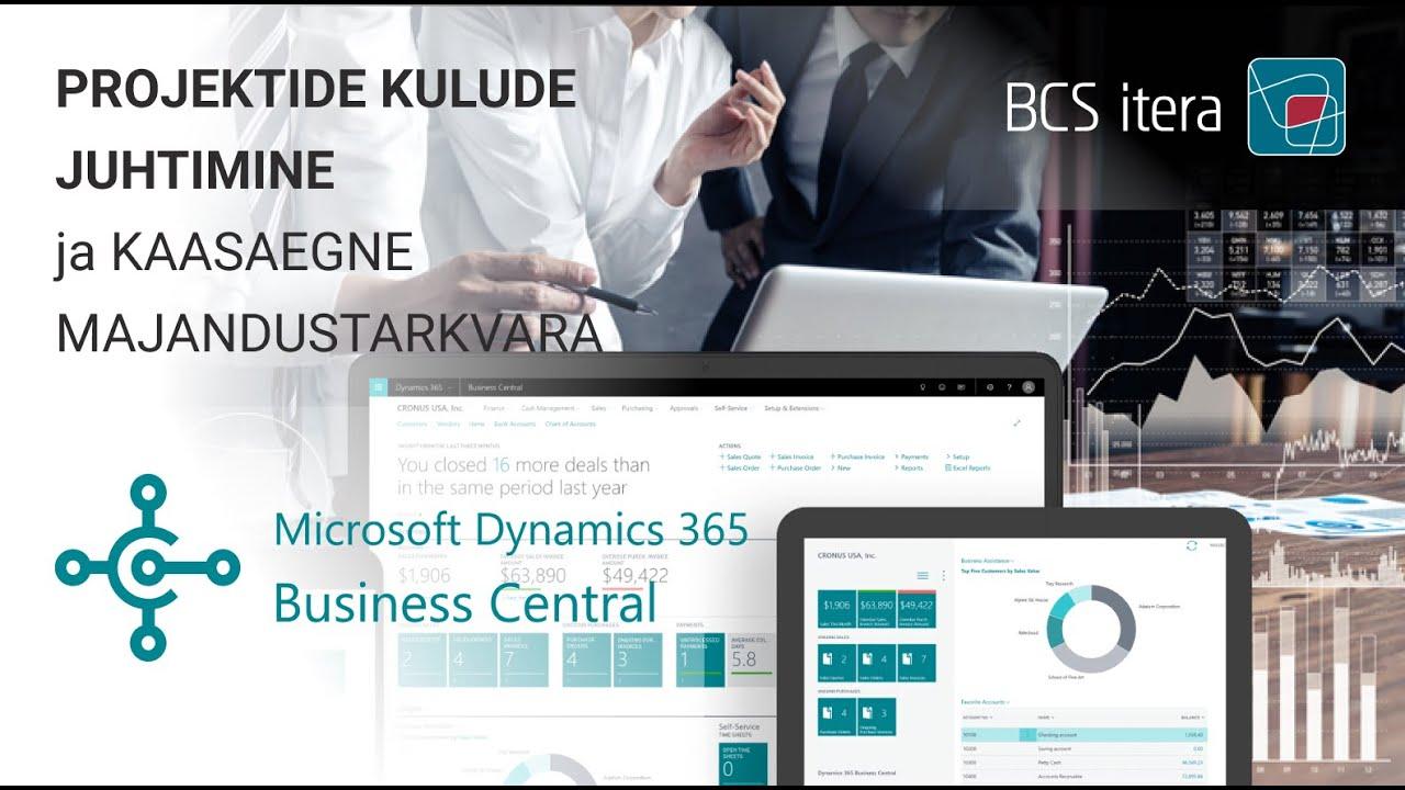 Projektide kulude juhtimine Dynamics 365 Business Centralis