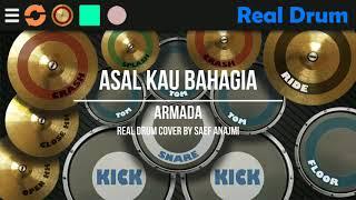 Aramada-asal kau bahagia (Real drum cover) (simple version)