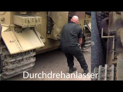 🇩🇪 Tiger Tank  ' Hand Crank Engine Start Up '