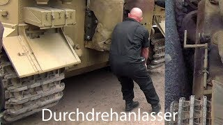 "🇩🇪 Tiger Tank  "" Hand Crank Engine Start Up """