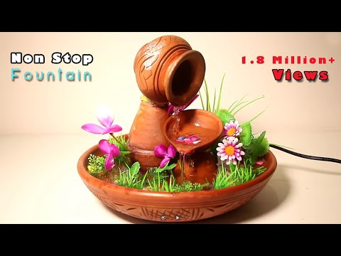 Make Nonstop Terracotta Fountain At Home | Diy Tabletop Fountain Crafts