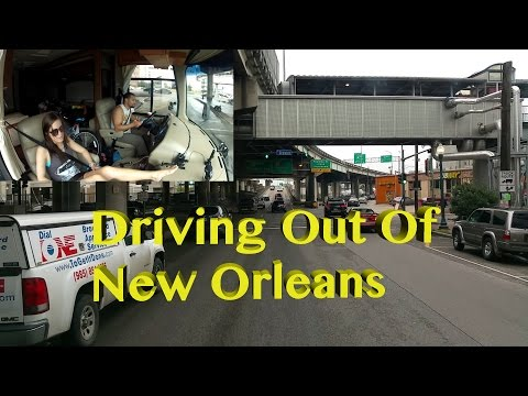 New Orleans Morning Run ~ Driving Out Of The City ~ RV's Are Not Meant To Drive In N O