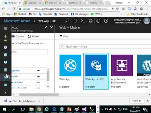29 MicroServices Technology   Hosting DB In WIn Azure Demo  in Arabic