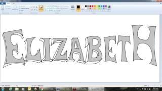 Dibuja letras graffiti con Paint - ELIZABETH