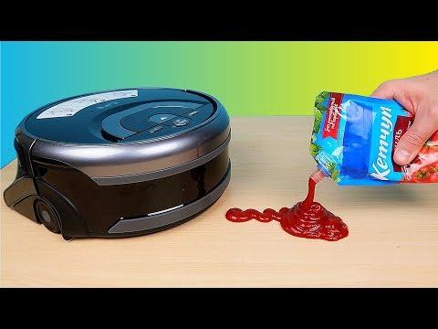 Робот мойщик полов против Кетчупа! Моющий робот пылесос ILIFE W400! Робот для мытья полов alex boyko