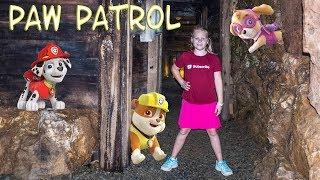PAW PATROL Nickelodeon Assistant Chase Rubble and Skye Trapped in a Mine