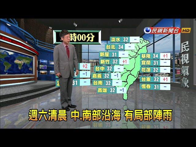 2019/6/21 週六清晨 中、南部沿海局部陣雨-民視新聞