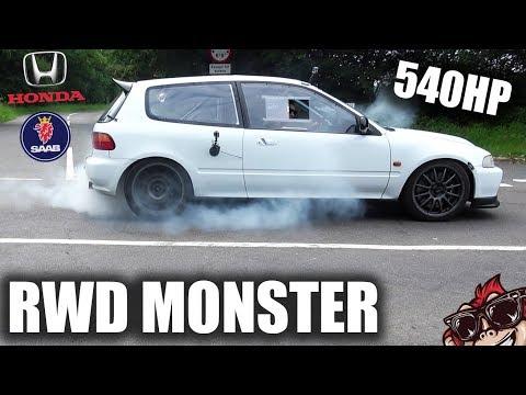 🐒 RWD CIVIC MONSTER! DEEKS 540HP HONDA BUILD (NO VTEC)