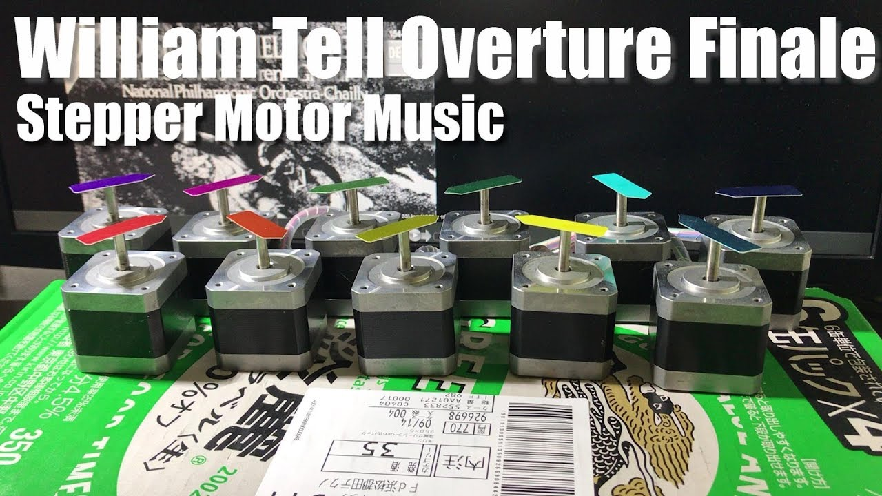 Rossini's William Tell Overture Finale - Stepper Motor Music