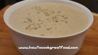 Mushroom & Gorgonzola Cheese Soup Recipe - How To Cook Great Food