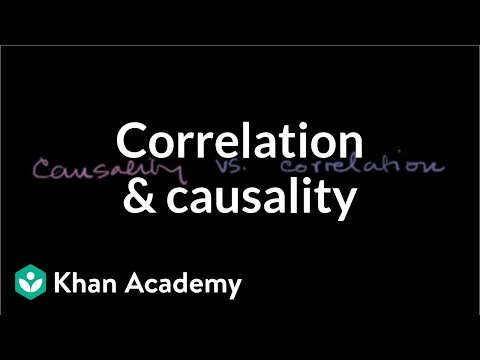 Correlation and causality | Statistical studies | Probability and Statistics | Khan Academy