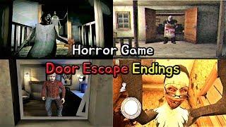 Horror Game - Door Escape Endings || Granny vs EvilNun vs Psychopath Hunt vs Dark Internet - 공포게임 엔딩