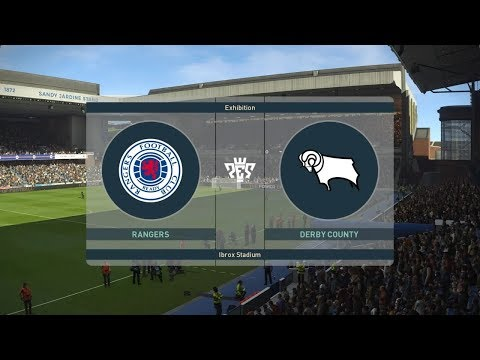 PES 2019  Rangers vs Derby County - Club Friendly  28 July 2019   Gameplay