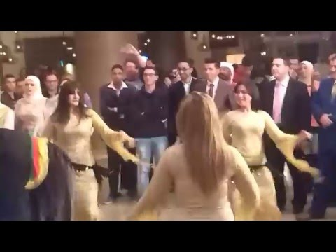 Egyptian wedding party in Cairo.