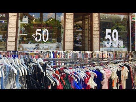 Магазины обуви и вечерних платьев на улице Işıklar.