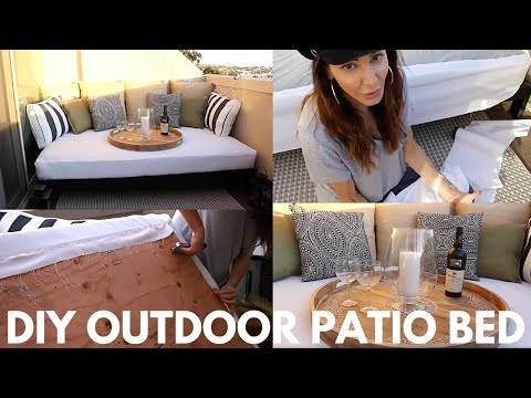 DIY PATIO BED Balcony Revamp Episode 1