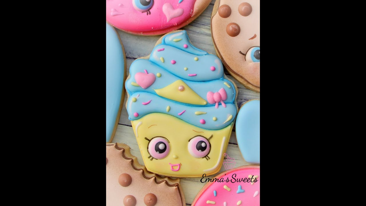 Cake Decorating Sugar Eyes : How to Make a Shopkins Cookie - Cupcake Cookie by Emma s ...