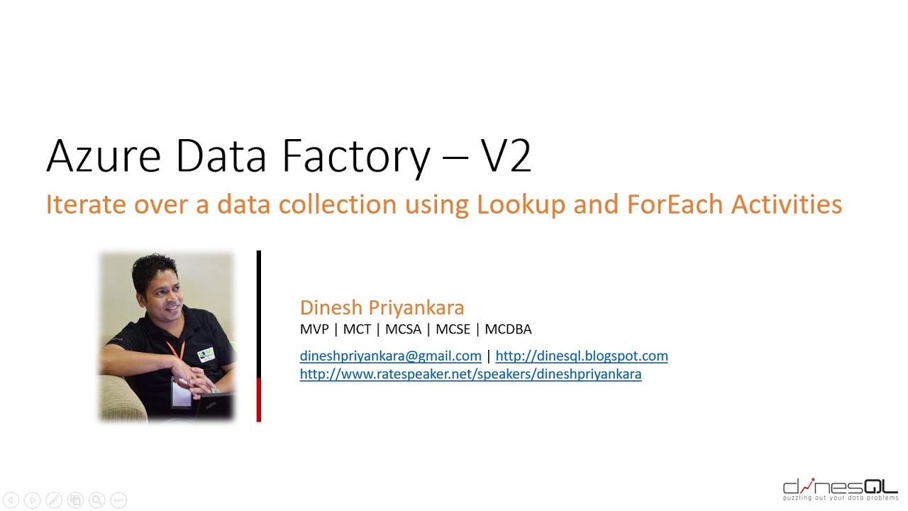 Azure Data Factory - Iterate over a data collection using Lookup and  ForEach Activities