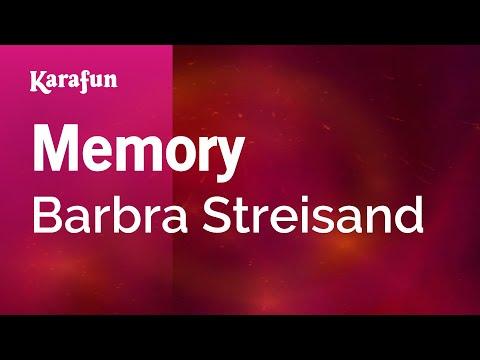 Memory - Barbra Streisand | Karaoke Version | KaraFun