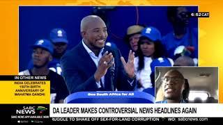 DA leader makes controversial news headlines again