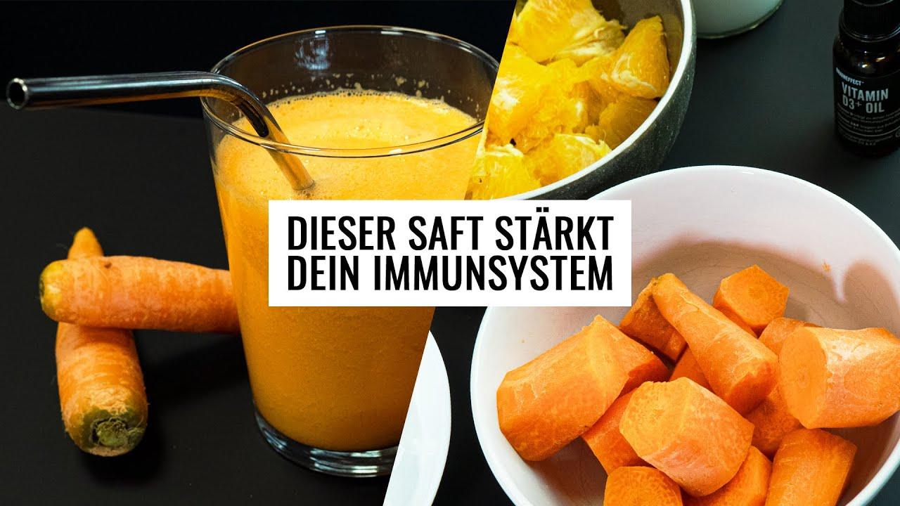 Immunsystem stärken mit diesem Rezept Karottensaft mit Kurkuma & Orange