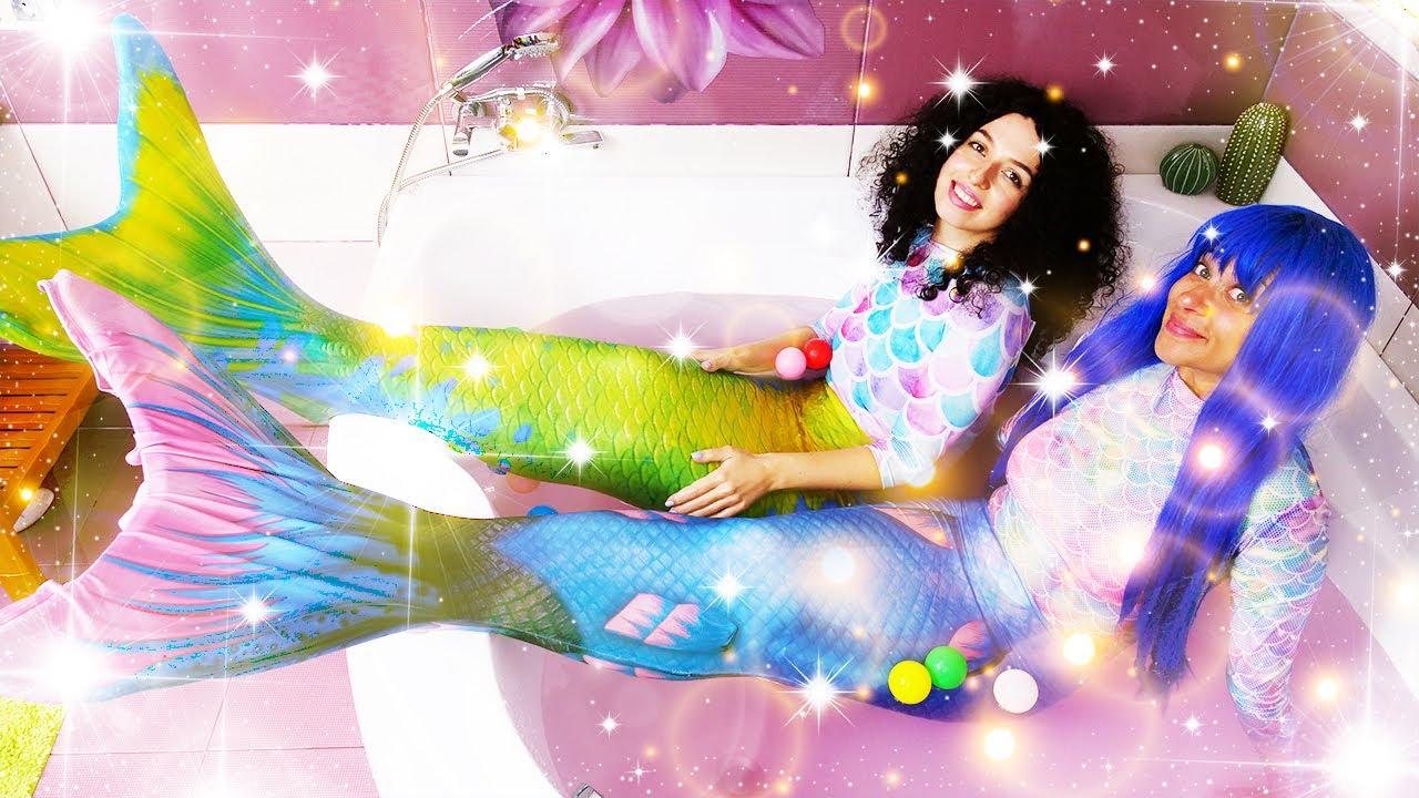 Disney Princess ile sihir yapma oyun videoları. Prensesler Denizkızları olmuş! Komik video