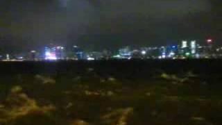 颱風黑格比影響下的北角海旁