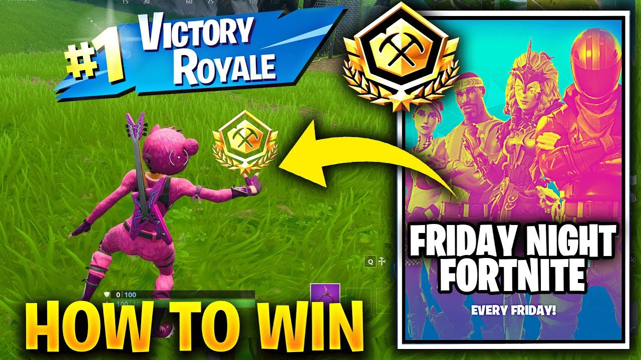 friday night fortnite squads in game tournaments how to win - fortnite tournament pin prize