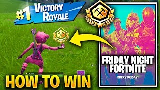 Friday Night Fortnite (SQUADS) IN GAME TOURNAMENTS - HOW TO WIN FRIDAY NIGHT with 25 Shiny Pin