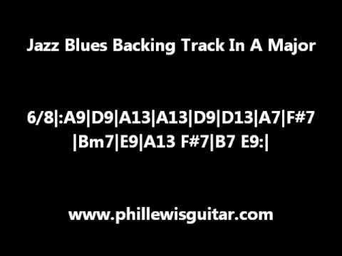 Jazz Blues Backing Track In A Major