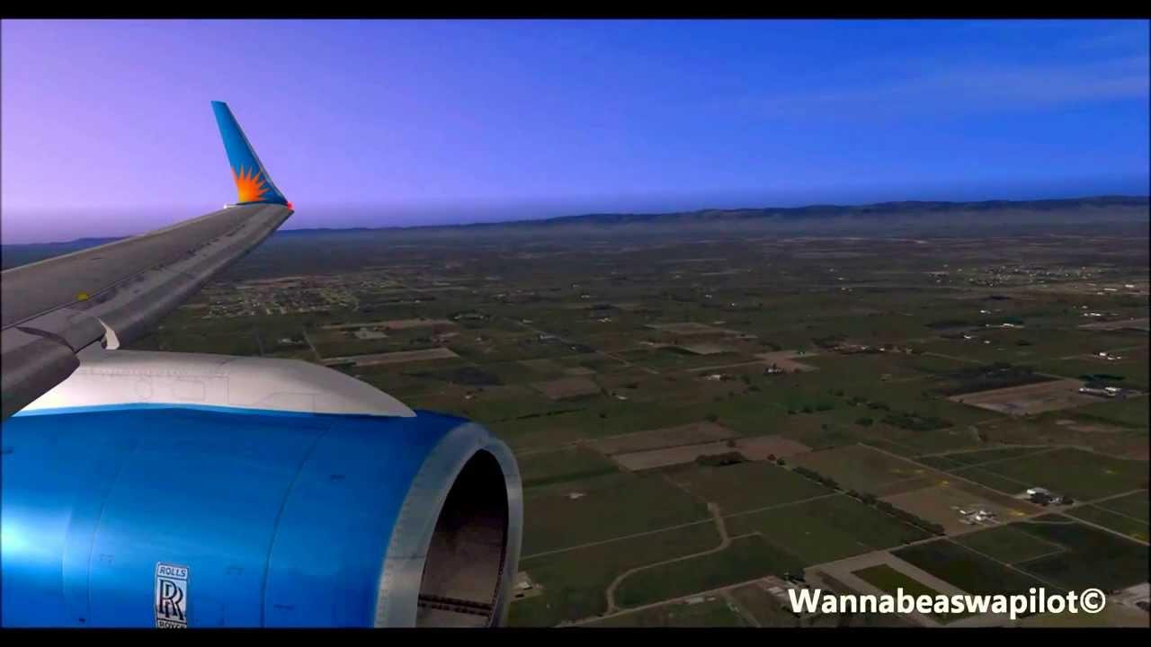 Fsx Allegiant Air 757 200 Landing In Stockton With Ftx