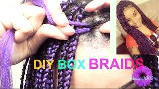 diy box braids slow motion two strand twist method