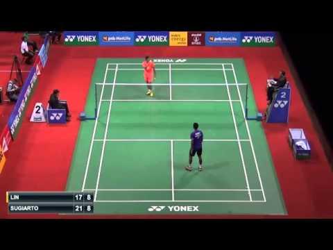QF - 2015 India Open SS - LIN Dan vs Tommy SUGIARTO.webm