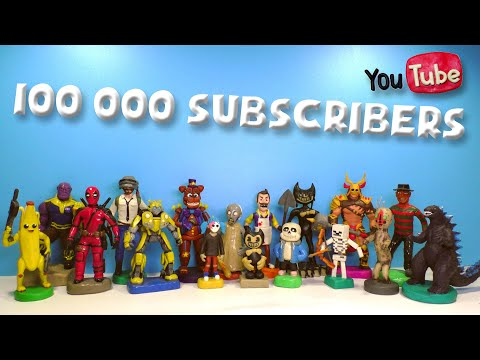 All my Clay figures in one video ⭐ 100,000 subscribers Roman Clay |