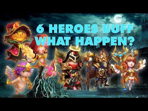 [5 Mins Relax] 6 Heroes Buff In Action | Castle Clash