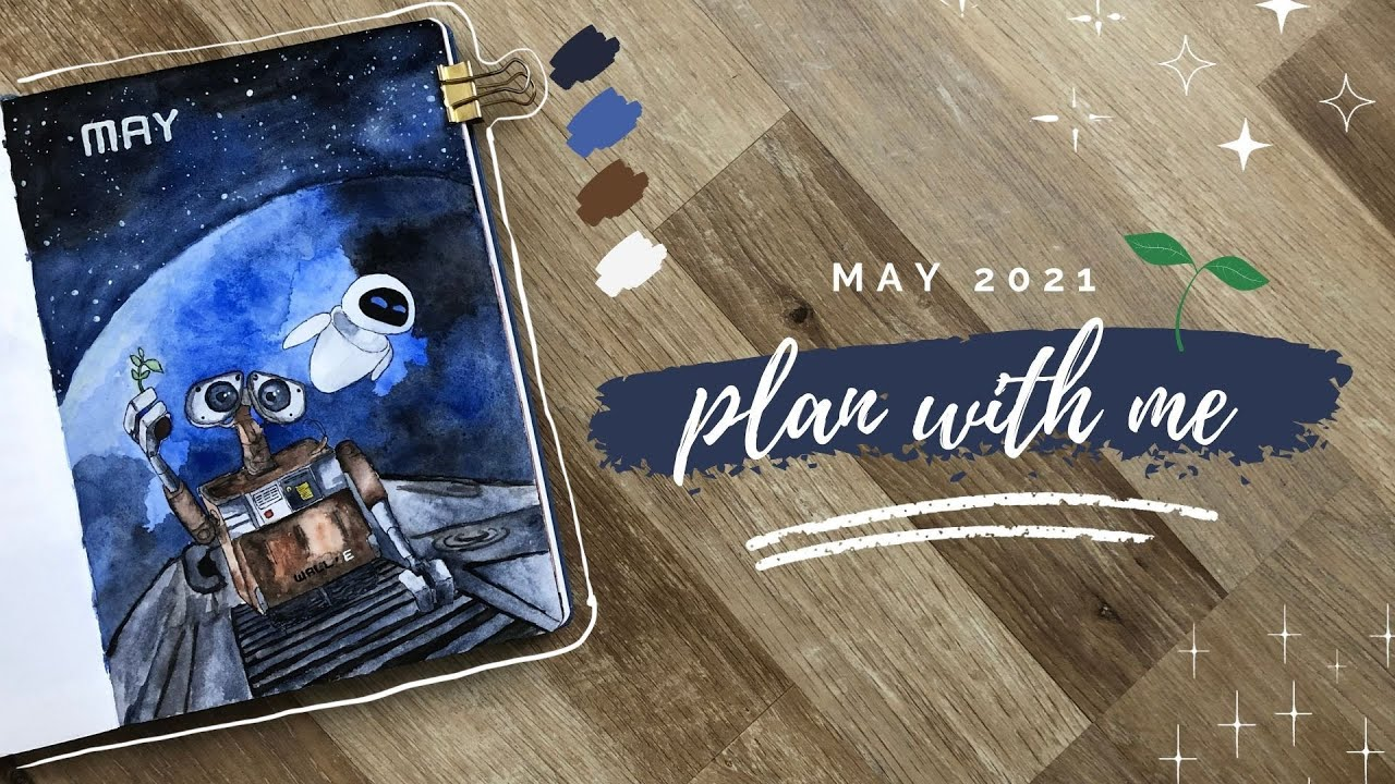 PLAN WITH ME // May 2021 Bullet Journal Setup - WALL-E ...