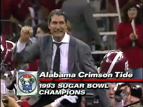 1993 Sugar Bowl Highlights - Bama Defeats Miami Hurricanes