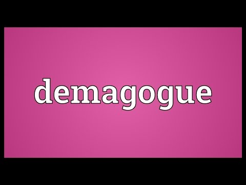 Demagogue Meaning