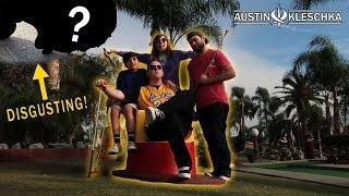 GROSS MINI GOLF BET! (LOSER LICKS THE STREET!) | Kleschka Vlogs