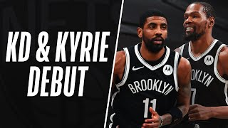 ⚫7 x 11⚪kyrie irving (26 pts, 4 reb & ast) and kevin durant (22 5 reb, 3 ast stl) went off in debut as teammates! #kiatipoff20subscribe to the nba...