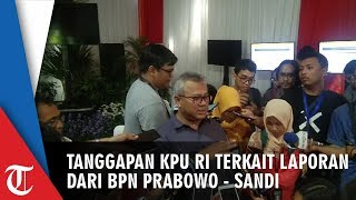 Tanggapan KPU RI soal Laporan BPN Prabowo-Sandi Terkait Laporan Lembaga Survei Tak Menunjukkan Fakta